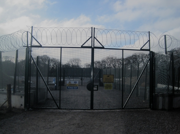 Celtique's prison-camp style front gate - note the second line of defence inside!