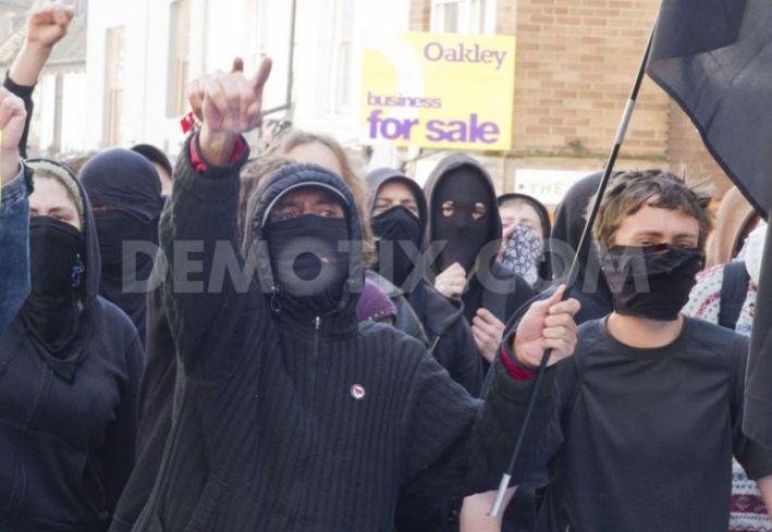 Anti-fascists protecting Brighton in 2012