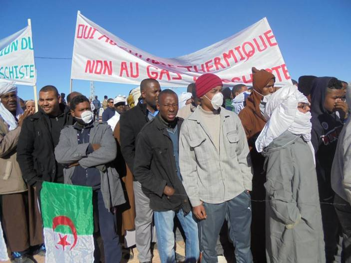 Anti-fracking protesters in In-Salah, Algeria