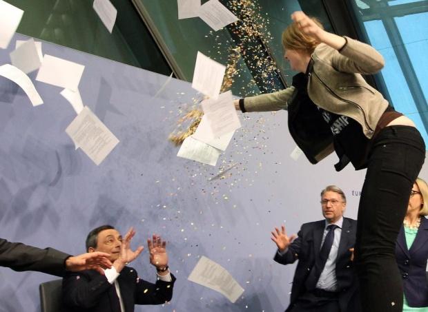 Draghi protest