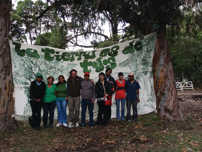 Land rights activists in the Pope's native Argentina