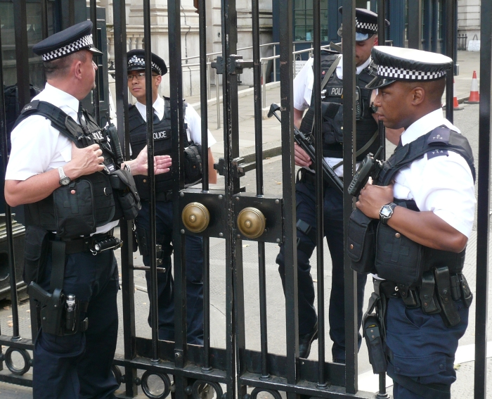 cops downing street