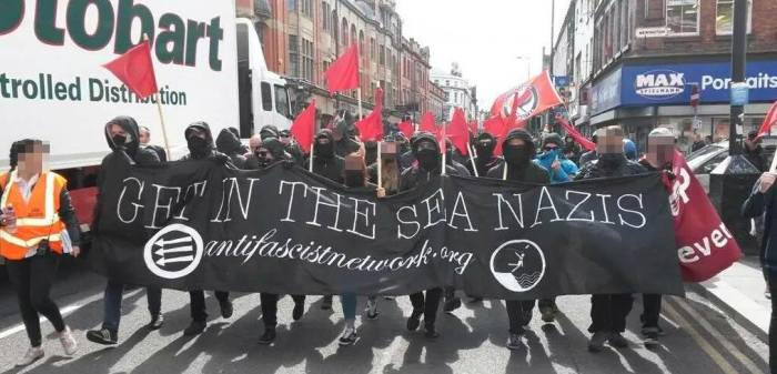 Anti-fascists owning the streets in Liverpool