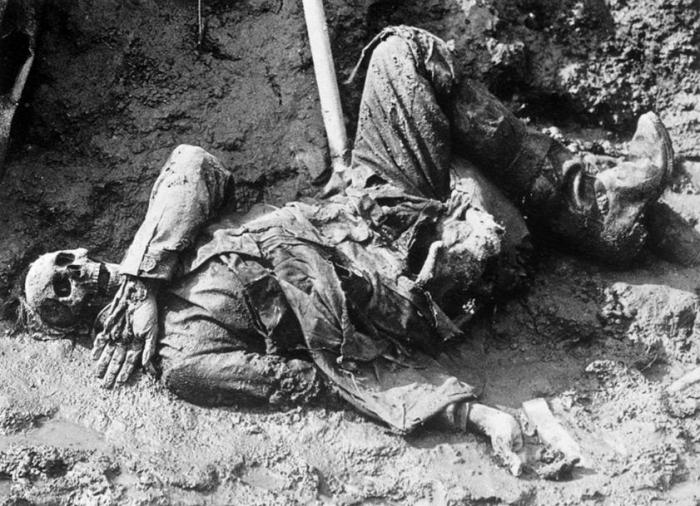 corpse in trenches