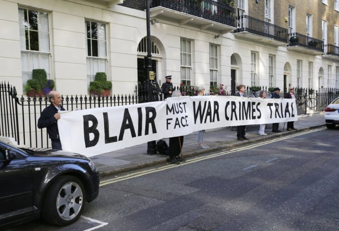 blair protest