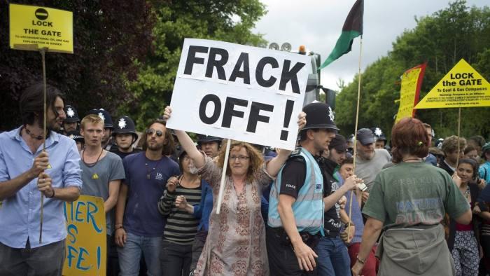 frack off protest