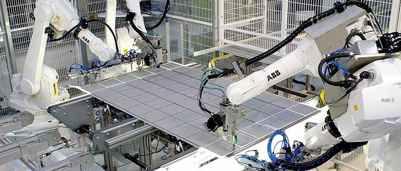 Solar-panel-factory