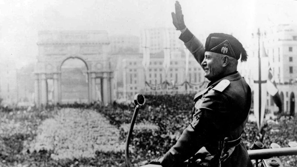 Mussolini rally