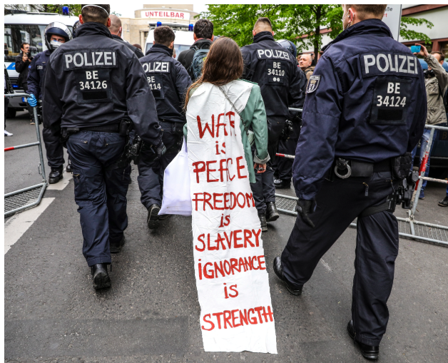 German protest Orwell