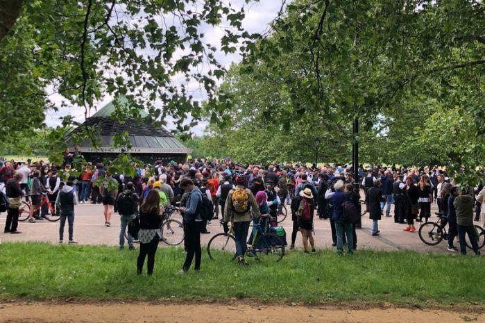 StandUpX protest Hyde Park