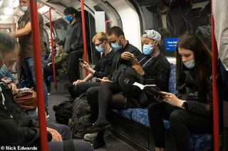 masks on tube