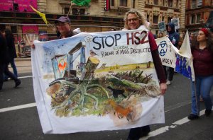 HS2 protest