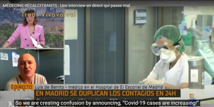 Spanish doctor on TV