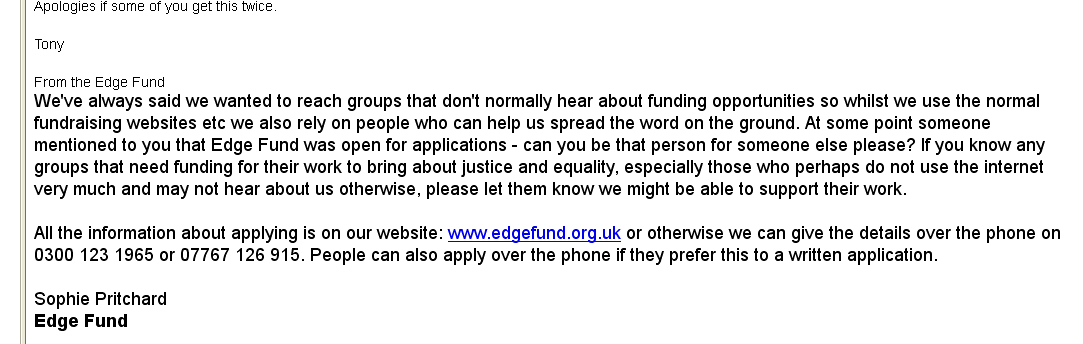 Edge Fund 2013 email