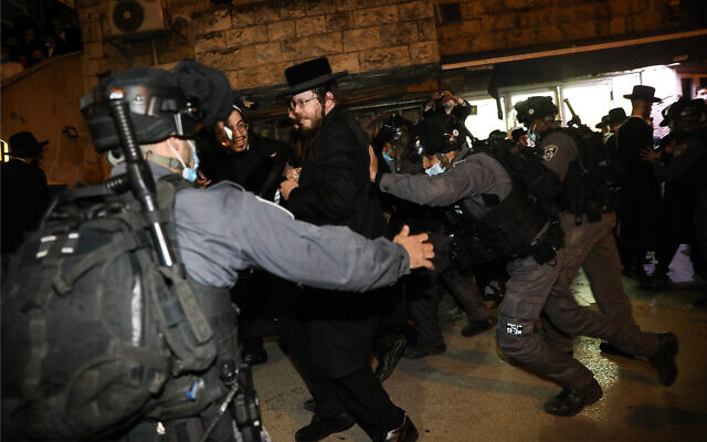 Israel lockdown protest