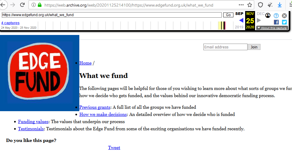 what we fund archived