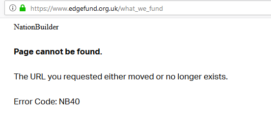what we fund page missing