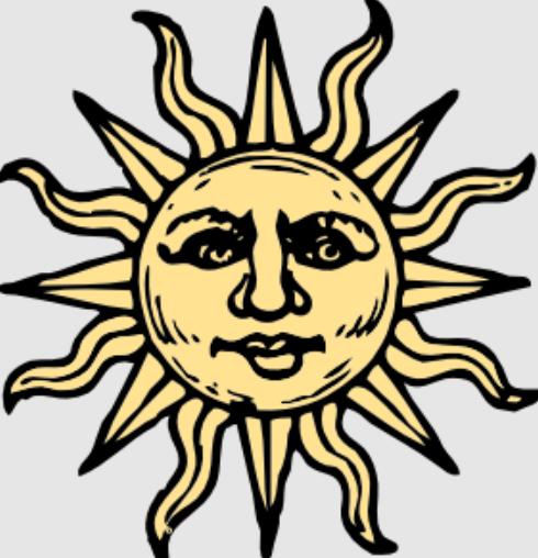 woodcut sun
